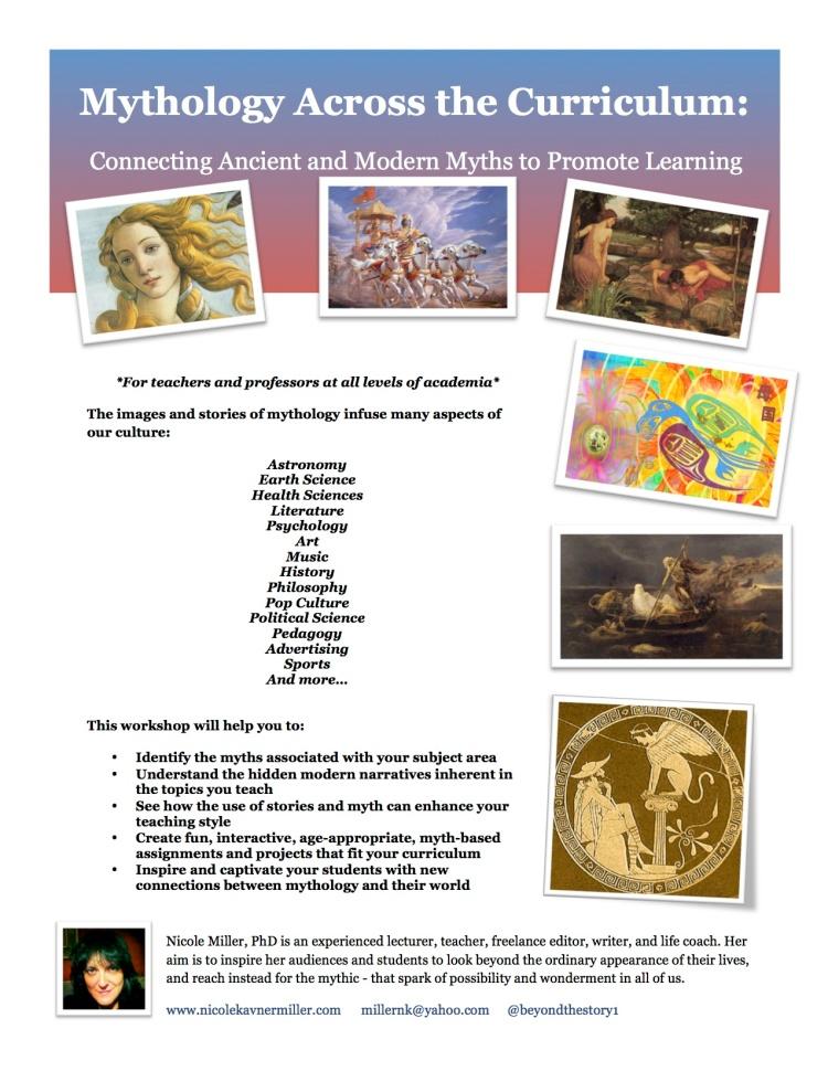 Mythology Across the Curriculum- One Sheet