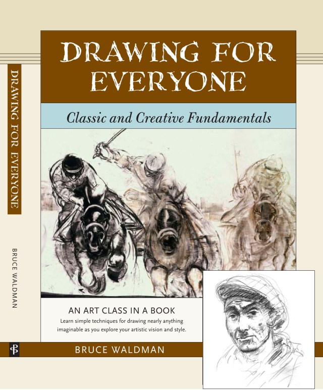 Cover for my new book, Drawing for Everyone by Bruce Waldman.
